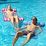 FindUWill Hammock Float Portable Swimming Pool Lounge Inflatable Water Pillow (2 Pack) 4-in-1 Multi-Purpose Inflatable Hammock (Saddle, Lounge Chair, Hammock, Drifter) Portable Pool Float