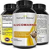 Premium Glucomannan Powder Fiber Weight Loss Supplement - Natural Constipation Relief - Appetite Suppressant Capsules - Colon + Blood Sugar + Cholesterol Support for Men & Women - By Natures Design