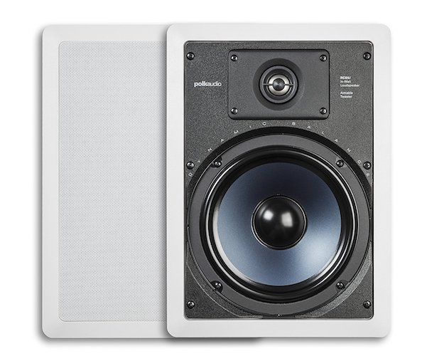 7. Polk Audio RC85i 2-Way In-Wall Speakers (Pair, White)