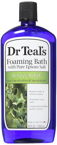 1. Dr Teal's Foaming Bath (Epsom Salt), Eucalyptus Spearmint, 34 Fluid Ounce