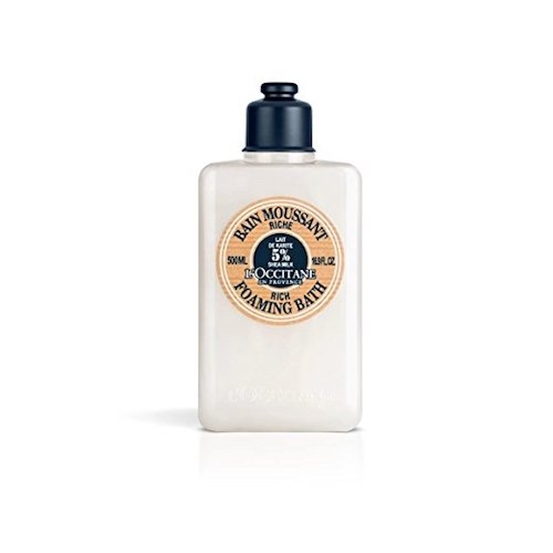 7. L'Occitane Ultra-Rich Foaming Bubble Bath with 5% Shea Milk, 16.9 fl. oz.
