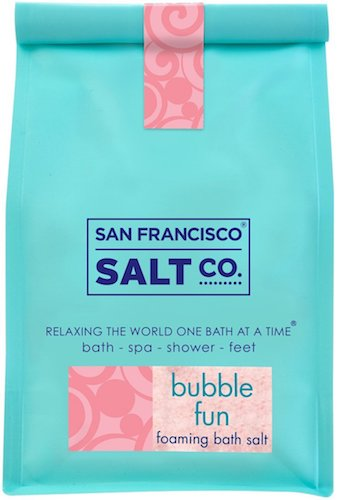 5. Bubble Fun Foaming Bath Salts 2 lb. Luxury Gift Bag by San Francisco Salt Company