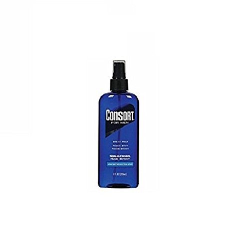 3. Consort Hair Spray for Men, Extra Hold, Unscented, Non-Aerosol - 8 oz(Pack of 4)