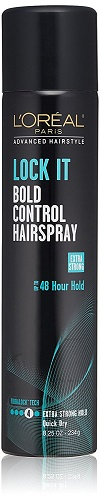 2. L'Oréal Paris Advanced Hairstyle LOCK IT Bold Control Hairspray, 8.25 oz. (Packaging May Vary)