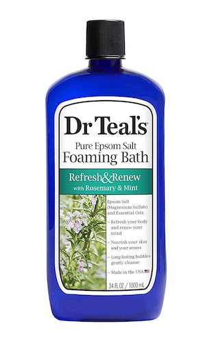 4. Dr Teal's Foaming Bath, Rosemary and Mint, 34 Ounce