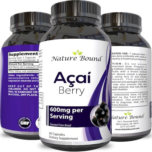 4. Acai Berry Detox Weight Loss Supplements Antioxidant Superfood Increase Energy Heart Health Burn Belly Fat Immune System Booster Skin Care Benefits Anti-Aging Improve.