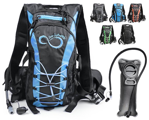 7. Hydration Backpack With 2.0L TPU Leak Proof Water Bladder