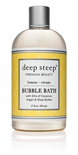 10. Deep Steep Bubble Bath, Lemon Cream, 17 Ounces