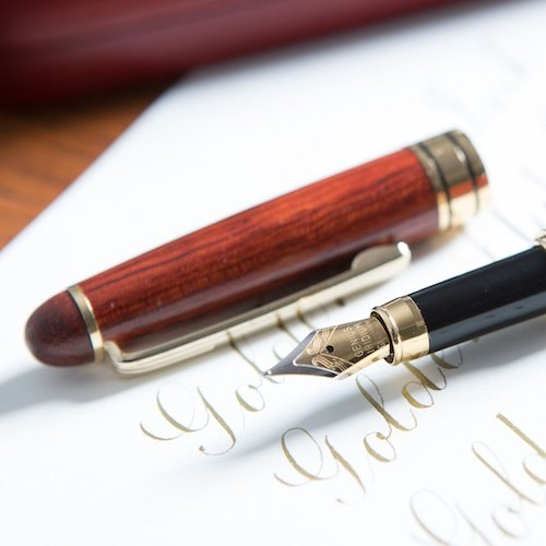 Best Fountain Pens under $50 5. [Top Rated Rosewood Fountain Pen] Designer Luxury Fountain Pens by Golden State Ink