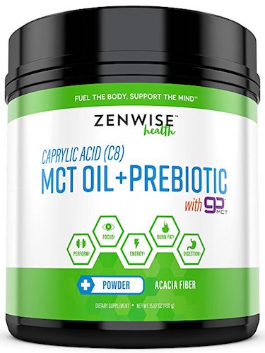 10. C8 MCT Oil + Prebiotic Powder with goMCT - Caprylic Acid & Acacia Fiber Supplement - Keto Friendly Fat for Energy Boost & Fat Burn Weight Loss - Great for Coffee + Shakes
