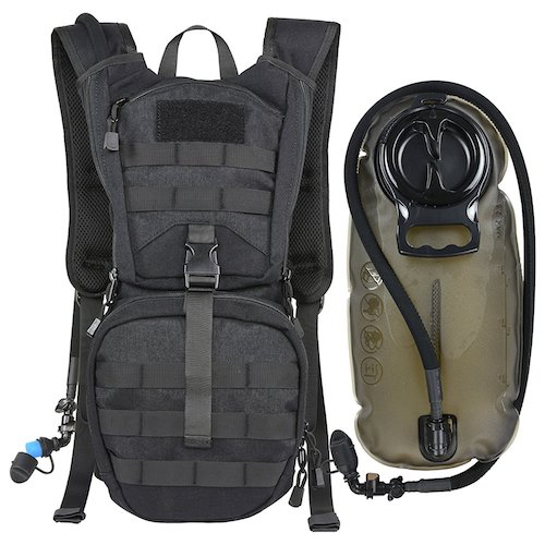 10. Tactical Molle Hydration Pack Backpack with 2.5L TPU Water Bladder