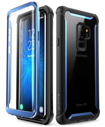7. Samsung Galaxy S9+ Plus case, i-Blason [Ares] Full-body Rugged Clear Bumper Case)