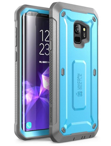 2. Samsung Galaxy S9 Case, SUPCASE Full-body Rugged Holster Case