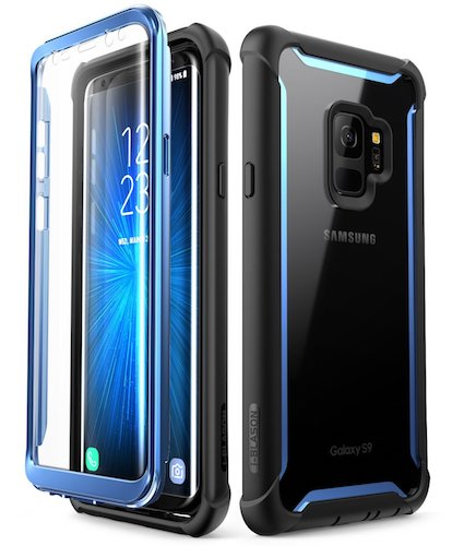 4. Samsung Galaxy S9 case, i-Blason [Ares] Full-body Rugged Clear Bumper Case