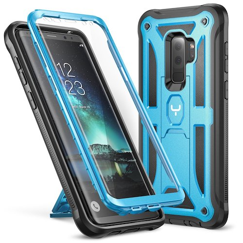 6. Galaxy S9+ Plus Case, YOUMAKER Heavy Duty Protection Kickstand