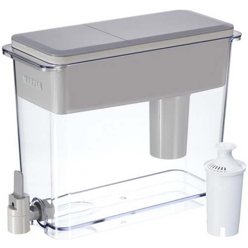Best Pitcher Water Filters 8. Brita Large 18 Cup UltraMax Water Dispenser and Filter - BPA Free - Gray