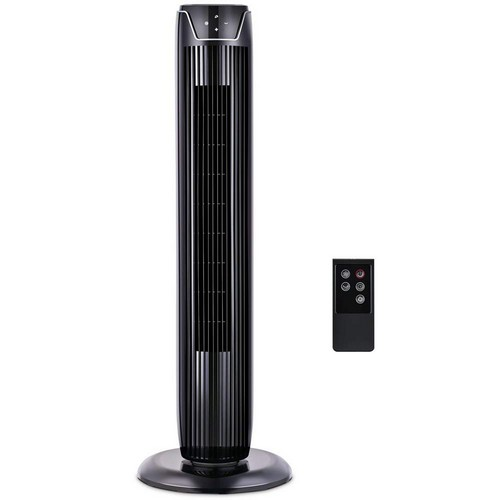 Quietest Tower Fans 2. Fan, Tower Fan Oscillating with LED Display, 3 Speeds and Modes, Remote Control, 7h Programmed Timer, 36-Inch, by Pelonis