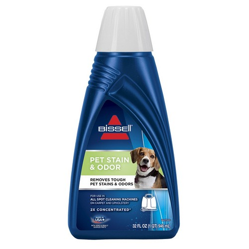 Best Pet Odor and Stain Removers 8. BISSELL 2X Pet Stain & Odor Portable Machine Formula, 32 ounces, 74R7
