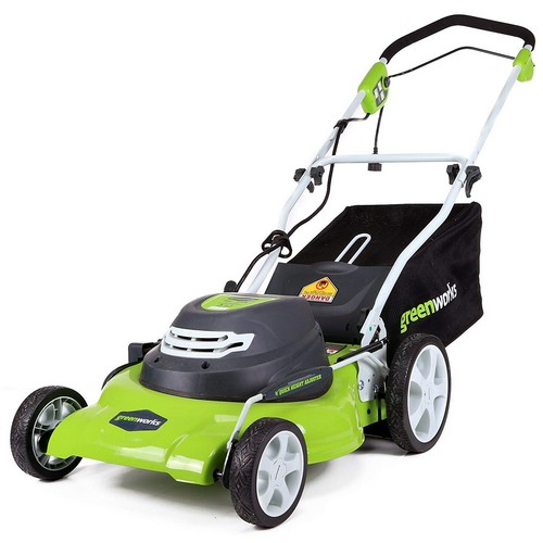 Best Corded Electric Lawn Mowers 1. Greenworks 20-Inch 12 Amp Corded Lawn Mower 25022