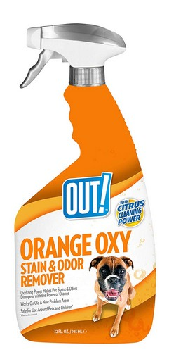 Best Pet Odor and Stain Removers 10. OUT! Orange Oxy Stain and Odor Remover, 32 oz