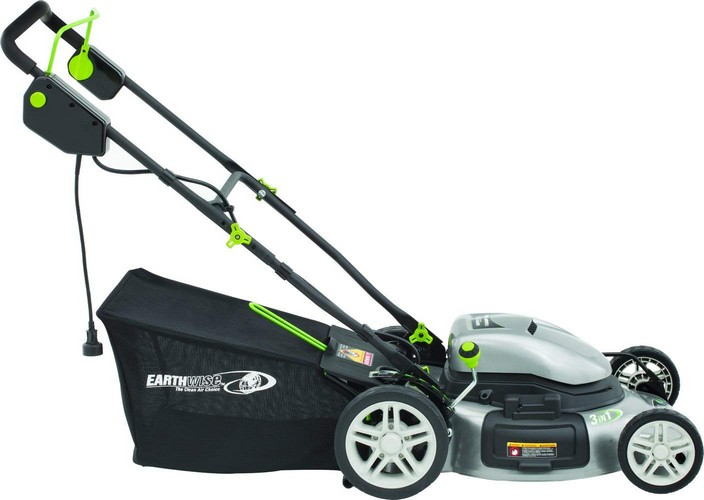 Best Corded Electric Lawn Mowers 10. Earthwise 50220 20-Inch 12-Amp Side Discharge/Mulching/Bagging Electric Lawn Mower