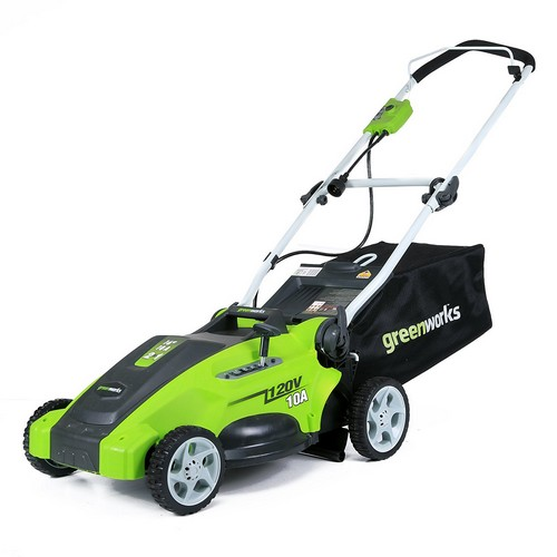 Best Corded Electric Lawn Mowers 7. Greenworks 16-Inch 10 Amp Corded Lawn Mower 25142