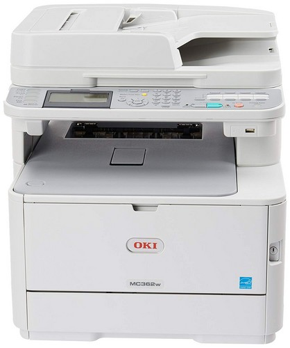 Best All in One Color Laser Printers for Mac 6. OKI Data MC362w Wireless Duplex Multifunction Color Laser Printer Print, Copy, Scan, Fax, 120V