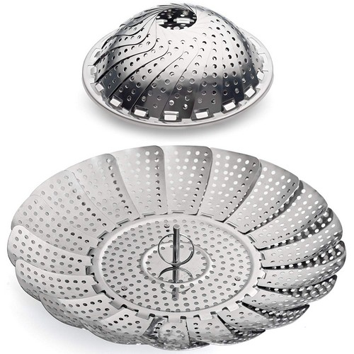Best Vegetable Steamer Baskets 1. 100% Stainless Steel Vegetable Steamer Basket / Insert for Pots, Pans, Crock Pots & more... 5.5