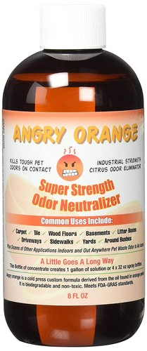 Best Enzyme Cleaners For Cat Urine 4. Angry Orange Pet Odor Eliminator 8 oz. bottle