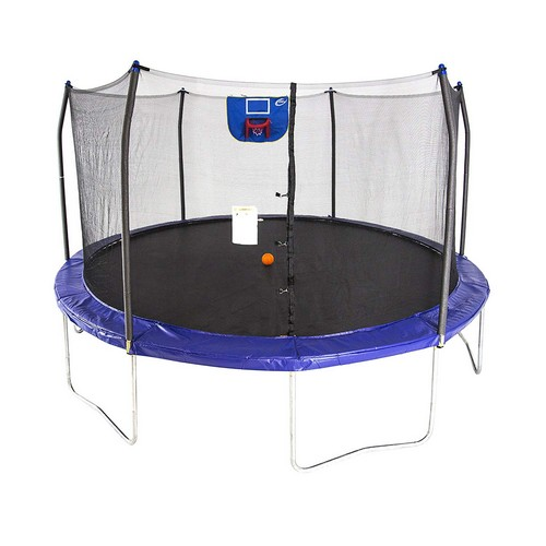 Best Trampolines To Buy 1. Skywalker Trampolines 15-Feet Jump N' Dunk Trampoline