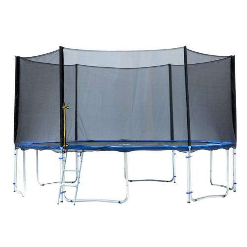Best Trampolines To Buy 10. Exacme TUV Approved Trampoline with Safety Pad & Enclosure Net & Ladder All-in-One Combo Set