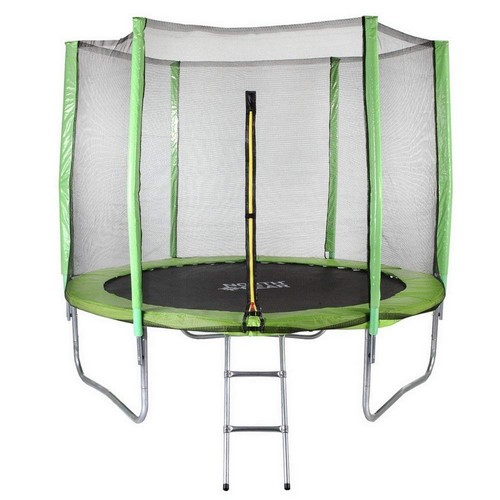 Best Trampolines To Buy 9. North Gear 8 Foot Trampoline Set with Safety Enclosure and Ladder