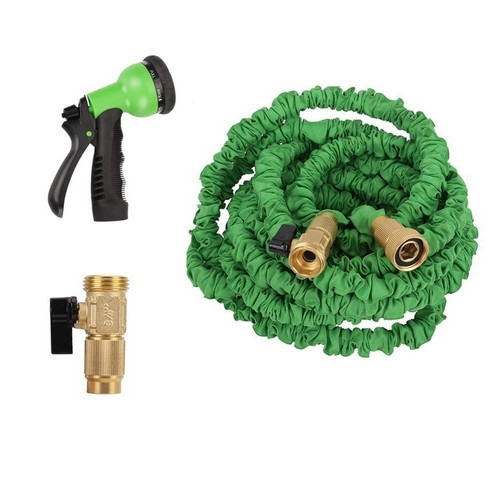 Best Lightweight Garden Hoses 10. Easeetop 100ft Garden Hose Strongest Magic Expandable Water Hose New Durable Double Layer Latex Extra Strength Fabric 3/4 USA Standard With 8 Function Spray Nozzle