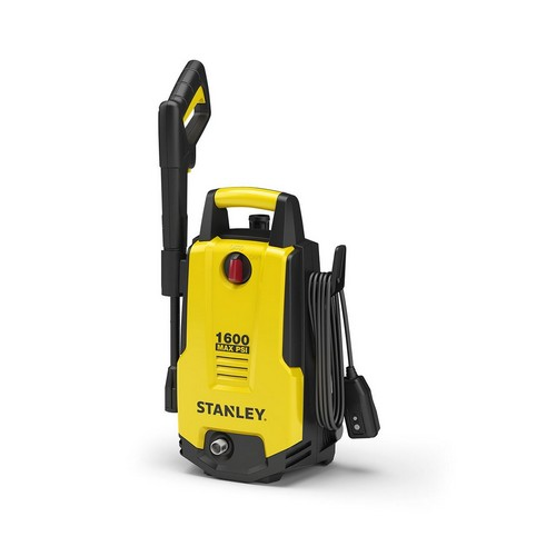 Best Corded Electric Lawn Mowers 6. Stanley SHP1600 1600 Psi Electric Pressure Washer with Vari-Spray Nozzle, Wand, Spray Gun, 20' Hose & Detergent Bottle, Yellow