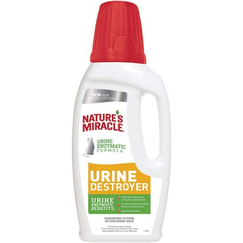 Best Enzyme Cleaners For Cat Urine 3. Nature's Miracle Just for Cat Urine Destroyer