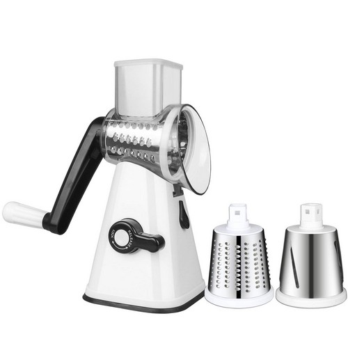 BEST ROTARY CHEESE GRATERS 10. Sondiko Vegetable Slicer, Round Drum Mandoline Slicer Rotary Cheese Grater, Multi-purpose Chopper
