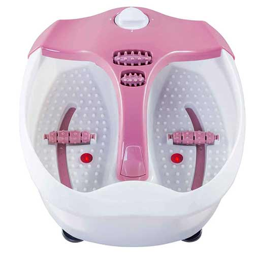 Best Heated Foot Spas 6. Safeplus Electrical Foot Basin Portable Foot Spa Massager with Heating & Bubbles Point Massage