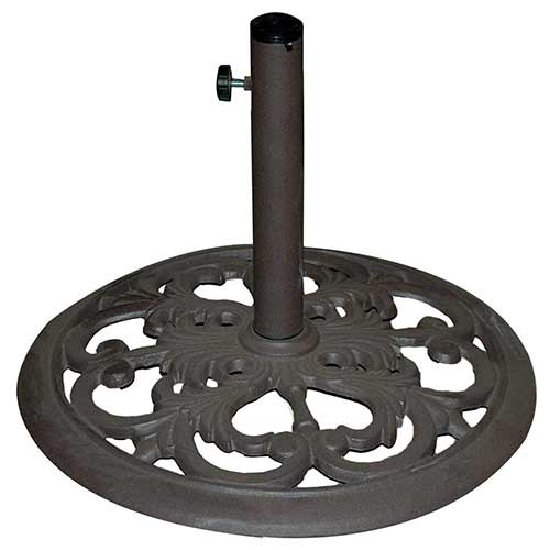 Best Patio Umbrella Stands for Wind 3. Tropishade 30-Pound Bronze Powder-Coated Cast Iron Umbrella Stand
