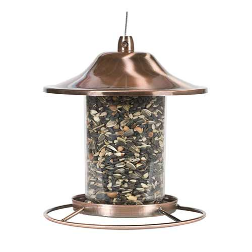 Best Outside Wild Bird Feeders 2. Perky-pet copper panorama