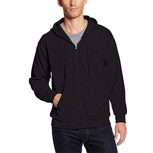 8. Hanes Men's Full-Zip EcoSmart Fleece Hoodie