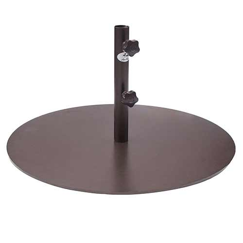 Best Patio Umbrella Stands for Wind 1. Abba Patio Round Steel 28 inch Diameter Market Patio Umbrella Base, 55 lbs