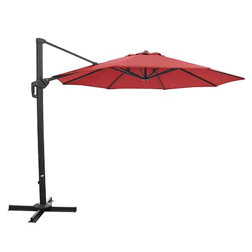 Best Cantilever Patio Umbrellas 10. Ulax furniture 360° Rotation 11 Ft Deluxe Outdoor Offset Hanging Market Umbrella, Cantilever Patio Umbrella