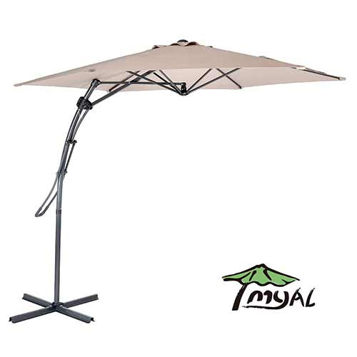 Best Cantilever Patio Umbrellas 6. MYAL 9ft Offset Patio Umbrella Outdoor Cantilever Umbrella Tan