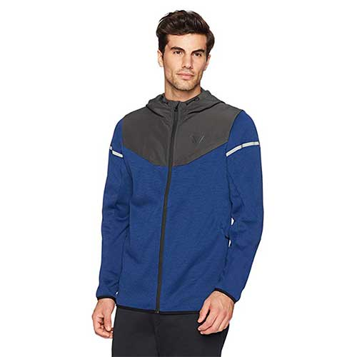 10. Peak Velocity Men's Axiom Full-Zip Water-Repellent Loose-Fit Jacket