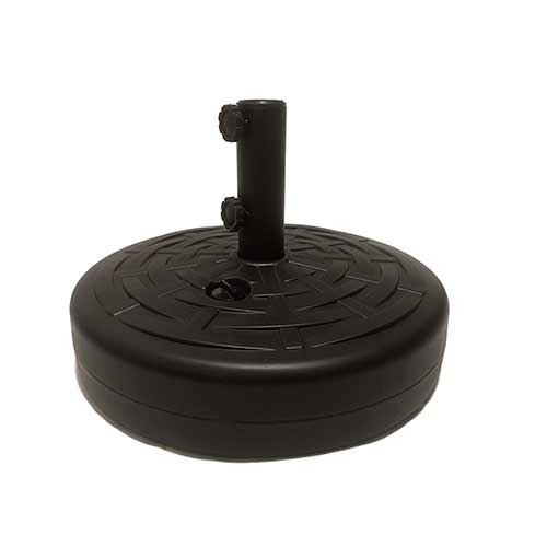 Best Patio Umbrella Stands for Wind 5. Umbrella Base by Sundaze: Umbrella Stand w/ 2 SET SCREWS Black 50lbs Water or Sand