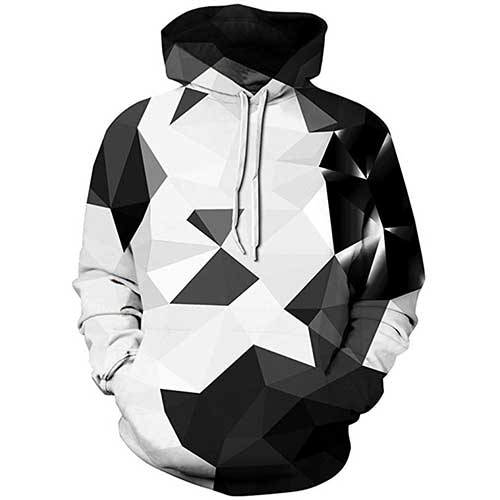 9. Pandolah Men's Patterns Print Athletic Sweaters Fashion Hoodies Sweatshirts