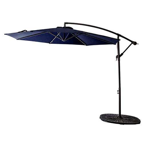 Best Cantilever Patio Umbrellas 8. FLAME&SHADE 10' Offset Cantilever Patio Umbrella, Outdoor Hanging Umbrella