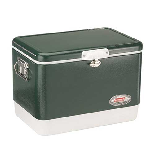 Best Coolers Under 100 2. Coleman 54-Quart Steel-Belted Cooler