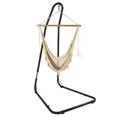 Most Comfortable Hanging Chairs 4. Sunnydaze Extra Large Mayan Hammock Chair