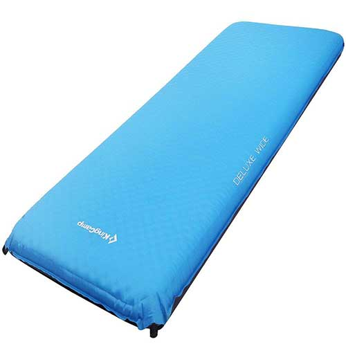 Best Camping Cot Mattress 8. KingCamp DELUXE Series Thick Self-Inflating Camping Pad